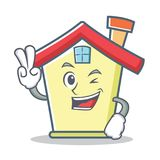 Two finger house character cartoon style. Vector illustration Stock Images