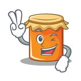 Two finger jam character cartoon style. Vector illustration Royalty Free Stock Photos