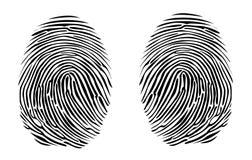 Two fingerprints Royalty Free Stock Photo