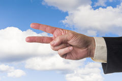 Two fingers Royalty Free Stock Images