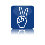 Two fingers icon Stock Photos