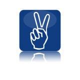 Two fingers icon. On a white background Stock Photos