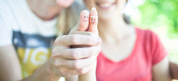 Two fingers Royalty Free Stock Photos