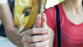 Two fingers Stock Photography