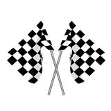 Two finish flag. Start flag. Two crossed checkered flag, finish flag, racing flag Royalty Free Stock Photo