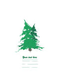 Two fir trees logo. Two fir trees isolated on the white background Royalty Free Stock Image