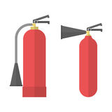 Two fire Extinguishers. Fire Extinguisher icons. Extinguishers in flat style. Vector illustration Royalty Free Stock Photo