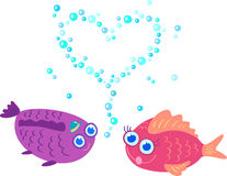 Two fish in love Stock Photo