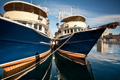 Two fishboats Stock Photos