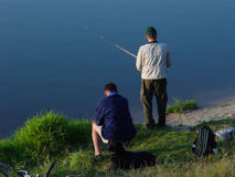 Two fisherman Royalty Free Stock Images