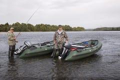 Two fisherman Stock Photos