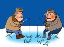 Two fishermans stock illustration