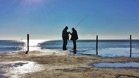 Two fishermans Royalty Free Stock Photo