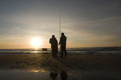 Two Fishermen Royalty Free Stock Photo