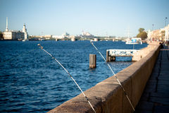 Two fishermen. Fishing in the historic center Royalty Free Stock Photo