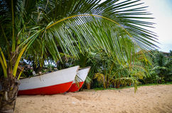 Two fishermen boats Royalty Free Stock Images