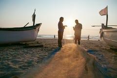 Two fishermen Stock Photos