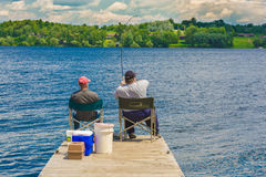 Two fishermen Stock Photography