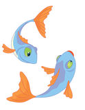 Two_fishes. Two cartoon fishes series I Royalty Free Illustration