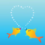 Two fishes in love Royalty Free Stock Image