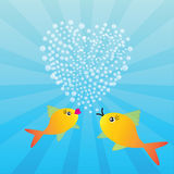 Two fishes in love Royalty Free Stock Photography