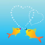 Two fishes in love Royalty Free Stock Photos