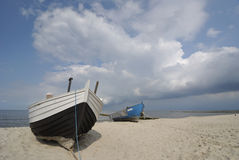 Two fishing boats Royalty Free Stock Image
