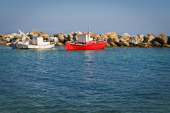 Two fishing boats Stock Photos