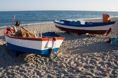 Two Fishing Boats Stock Photo