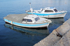 Two fishing boats Stock Image