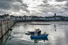 Free Two Fishing Boats In A Harbour Stock Images - 144224224