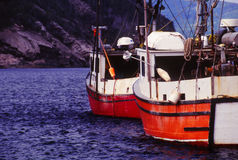 Two Fishing Boats Stock Images