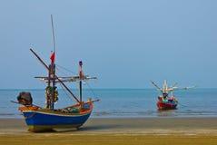 Two fishing boats at the sea Royalty Free Stock Photo