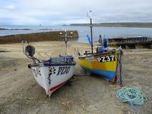 Two fishing boats on slipway Stock Photography