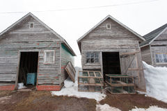 Two Fishing Buildings Royalty Free Stock Photos