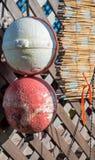 Two fishing buoys Stock Photo
