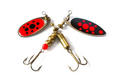 Two Fishing Lure Royalty Free Stock Images