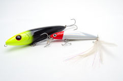 Two Fishing Lures Royalty Free Stock Photos