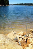 Two fishing rods Royalty Free Stock Images
