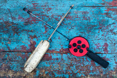 Two fishing rods Royalty Free Stock Photography