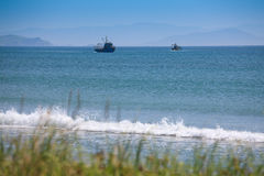 Two fishing vessels fishing in the Gulf Stock Photo