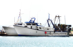 Two fishing vessels. Royalty Free Stock Photography