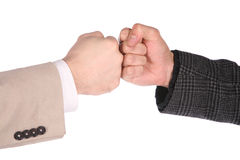 Two fists Royalty Free Stock Images
