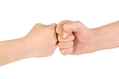 Two fists stock images