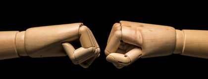 Two fists threaten Royalty Free Stock Images