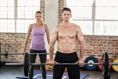Two fit people working out Stock Photo