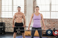 Two fit people working out Royalty Free Stock Images