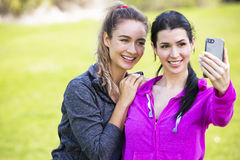 Two fit women taking selfie together Stock Photography