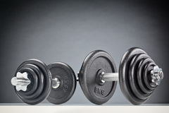 Two Fitness Dumbbells Royalty Free Stock Photo