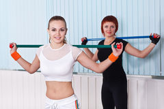 Two fitness women Stock Photography